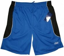 NEW REEBOK ACTIVE PERFORMANCE GYM SHORTS ROYAL BLUE BLACK WHITE L fits 36 - 38