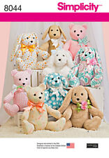 Simplicity Sewing Pattern Soft Toys 8044 OS