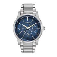 Citizen Eco-Drive Corso Men's Blue Dial Silver-Tone 44mm Watch BU2010-57L