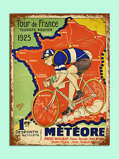 Vintage Estilo Retro Tour De France 1925 imagen de póster Metal SIGN pared puerta Placa