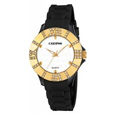 CALYPSO women watch RELOJ mujer K5649/5 gold & diamond orologio montre donna uhr