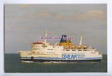 SIM0087 - Sealink British Ferries Ferry - Horsa , built 1972 - postcard