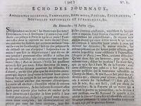 Rare Journal Révolution Française 1792 Bourges Louis 16 Jacobins Lafayette