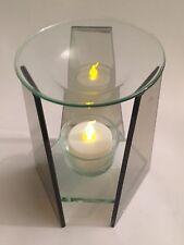 Oil Burner Fragrance Incense Diffuser Home Glass Tea Light Candle Holder - HE522