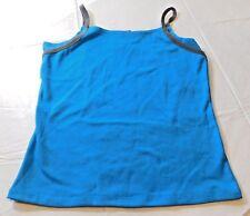 G.W. Sport womens tank top spaghetti strap S small Blue Grey NWT