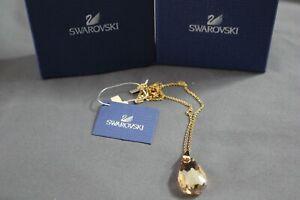 "Swarovski SCS Oro Golden Shadow Crystal Pendant Necklace 16.5""-18.5"" 5011473"