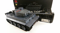 2.4ghz Heng Long 1:16 German Tiger 1 Smoke Sound Radio Control Army War Tank