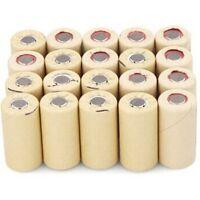 20x High Drain 10C Sub C NICD SC2200mAh Rechargeable Batteries Flat Top PKCELL