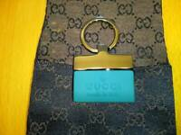 Gucci Authentic Key Ring Logo key Holder Bag Charm Made In Italy Blue unisex