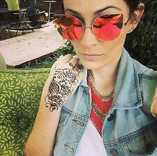 Cat Eye Women Sunglasses Chola Designer Fashion Style Pink Mirror Lens