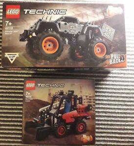 NEW 42119 LEGO Technic Monster Jam Max-D Truck & 42116 Skid Steer Loader 2in1