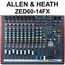ALLEN & HEATH ZED-60/14FX 12Ch USB Compact Live Recording Mixer
