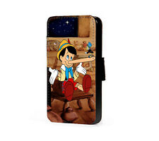 Disney Inspired Pinocchio leather wallet phone case for Samsung Iphone HTC LG