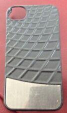 iPhone 4 / 4S Case - Slim Fitting Rigid Plastic - Black with Silver panel