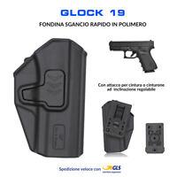 Fondina in Polimero per Glock 19 sgancio rapido cintura polizia militare