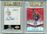 Jerry West Los Angeles Lakers /5 BGS 9.5 auto and /25 BGS 10 Pristine!