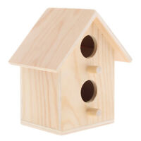 Bird Nest Box Budgie Wood Breeding House Cabin Pet Toy for Lovebirds Parrotlets