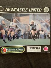 1986 Newcastle United V Watford  Match Programme