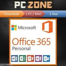 Microsoft Office 365 Word Excel PowerPoint 1 Year Subscription PC Mac 2016