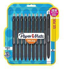 NIB! Paper Mate InkJoy Gel Pens Medium Point 0.7 mm Pack of 10 Black Ink 1951640