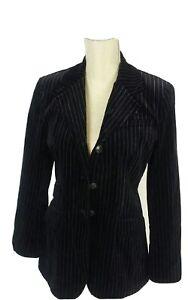 Ann taylor petites size 6 navy/blue velvet two piece suit very elegant