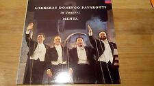 "Carreras Domingo Pavarotti In Concert - Mehta - 12"" vinyl LP album"