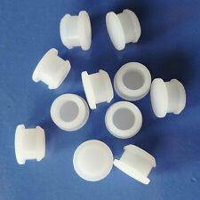 White Hollow Hole Plugs Silicone Blanking Masking Finishing Inserts 19.5~51.3mm