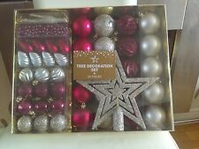 Christmas Tree Decorations  MIXED Baubles 50 in a pack ****NEW*****