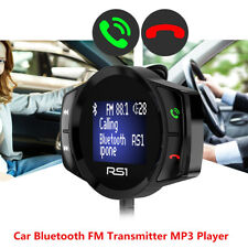 12V Car MP3 Player Bluetooth FM Transmitter Handsfree Calling Voltage Monitor