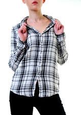 Sundry Women's Basic Flannel Plaid Shirt Black Size US 1 RRP £132 BCF611
