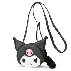 Kuromi My Melody Cinnamoroll Hello Kitty Head Shoulder Bag Crossbody with Tail