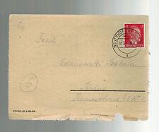 1944 Germany Danzig Stutthof Concentration Camp KZ Letter Cover L Zelanowski
