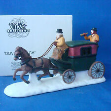 Dept 56 Dover Coach horse drawn carriage 6590-0 handpainted porcelain Christmas