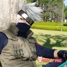 Naruto Kakashi Hatake silver cosplay kostüm perücke