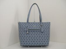 Coach 67364 Butterfly Print Taylor Tote Cornflower Blue Satchel Purse