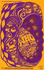 Mint The Who Jimi Hendrix Jefferson Airplane 1967 Bg 68 Fillmore Card