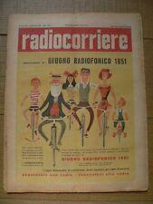 RADIOCORRIERE Anno 28 n.20 1951 - 34°GIRO D'ITALIA,A.GIANNINI RADIO NAPOLI  6/17