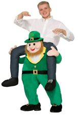 Funny Piggy Back Shoulders Leprechaun St Patricks Day Fancy Dress Mascot Costume