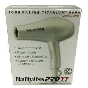 BaBylissPRO Hair Dryer, Titanium 5000 -1900 Watt Tourmaline Ionic BABTTW5586