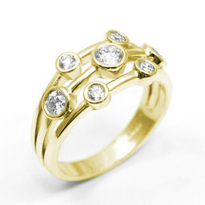 18ct Gold 0.76ct Raindance Scatter Ring All Gold Colours Available UK Hallmarked