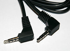 Right Angle 90 Degree 4 Pole 3.5mm Jack Plug to Jack Plug Cable 1.5m