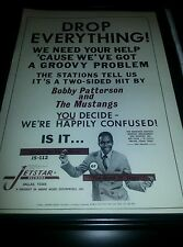 Bobby Patterson and The Mustangs Don't Be So Mean Rare Promo Poster Ad Framed!
