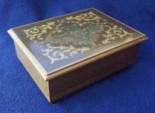 Vintage Wooden Music Box - Inlaid Lid