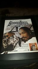 Snoop Dogg Tha Last Meal Rare Original Promo Poster Ad Framed!