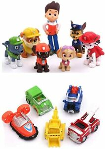 New Paw Patrol 12pc Action Figures Kids Pockit Toys/Cake Toppers Gifts Presents.