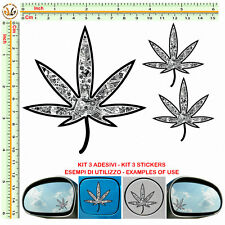 sticker bomb cannabis stylized motocycle decal adesivo serbatoio auto helmet 3pz