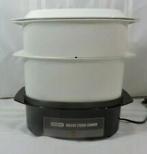 Waring Deluxe Food Steamer Rice Cooker 6 Quart Multi-level Vintage PERFECT