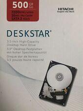 """Hitachi Desktop Hard Drive Deskstar 500GB 7200RPM 16MB 3.5"""" Sata 3GB/s HDD"""