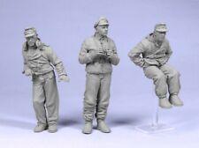 Tahk Tank 1:35 German Tank Crew Winter 1944-45 Three Figures Kit Resin #T35003