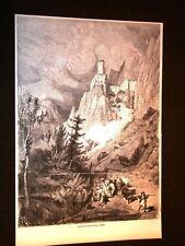 Castello o Castel Salorno nel 1857 Tyrol o Tirolo